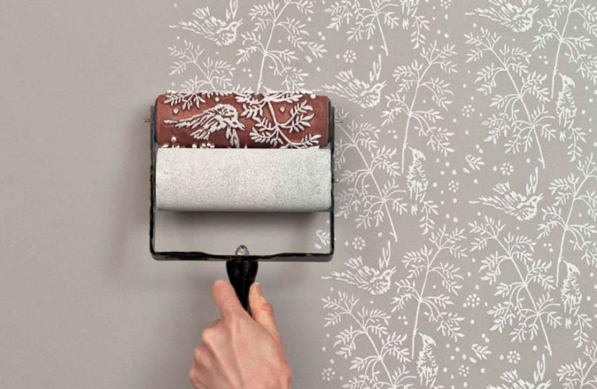 Фактурная покраска стен водоэмульсионной краской своими руками видео
